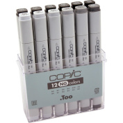 Copic Grey Marker 12pc Set-Neutral Grey