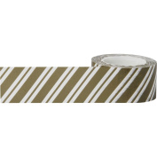 Little B Decorative Paper Tape 25mmX15m-Wide Gold Stripes