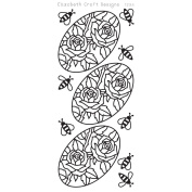 Roses In Ovals Peel-Off Stickers-Gold