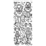 Little Cuties 2 Peel-Off Stickers-Black