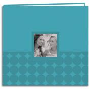 Embossed Post Bound Scrapbook Album 30cm x 30cm -Aqua Circles