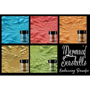 Lindy's Stamp Gang 2-Tone Embossing Powder .150ml 5/Pkg-Mermaid Seashells