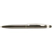 St.Tropez Petite 2 in 1 Stylus & Pen Open Stock W/Black Ink-Black Barrel