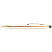 St.Tropez Petite 2 in 1 Stylus & Pen Open Stock W/Black Ink-Gold Barrel