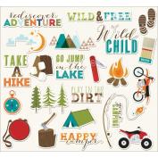 Outdoor Adventure Die-Cuts 23/Pkg-Gone Camping