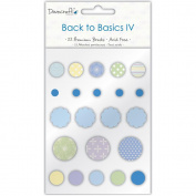 Back To Basics IV Brads 22/Pkg