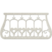 Die-Cut Grey Chipboard Embellishments-Balcony, 6.9cm x 13cm