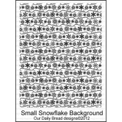 Our Daily Bread Cling Rubber Stamp 18cm x 13cm -Small Snowflake Background