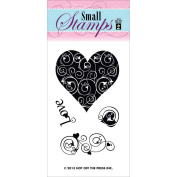 Hot Off The Press Acrylic Stamps 5.1cm x 8.3cm Sheet-Love & Hearts