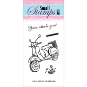 Hot Off The Press Acrylic Stamps 5.1cm x 8.3cm Sheet-Scooter