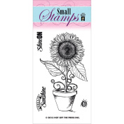 Hot Off The Press Acrylic Stamps 5.1cm x 8.3cm Sheet-Sunflower