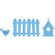 Marianne Design Creatables Dies-Fence, Bird & House; Up To 2.5cm x 7cm