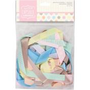 Papermania Spots/Stripes Pastels Ribbon-Assorted Prints & Solids/.5 Metre 20/Pkg