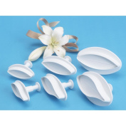 Plunger Cutters 6/Pkg-Veined Lily