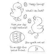 Honeypop Clear Stamp Set 10cm x 13cm -Ducky's Egg