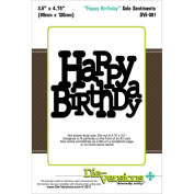 Die-Versions Solo Sentiments Die-Happy Birthday, 8.9cm x 12cm