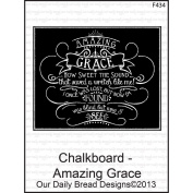 Our Daily Bread Cling Rubber Stamp 17cm x 9.5cm -Chalkboard - Amazing Grace