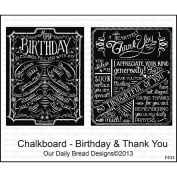 Our Daily Bread Cling Rubber Stamp 18cm x 13cm -Chalkboard - Birthday & Thank You