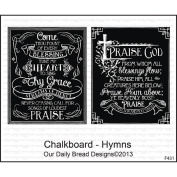 Our Daily Bread Cling Rubber Stamp 18cm x 13cm -Chalkboard - Hymns
