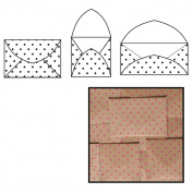 Kraft Note Envelopes 10cm x 5.1cm To 10cm x 10cm 9/Pkg-Hot Pink Polka Dot