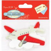 Papermania All Aboard Bookmarks 5/Pkg-Aeroplane