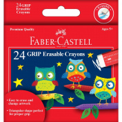 Creativity for Kids by Faber-Castell GRIP Erasable Crayons 24/Pkg