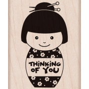 Hero Arts Mounted Rubber Stamps 5.1cm x 7cm -Thinking Of You Girl