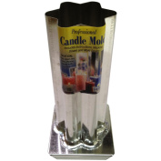 Professional Metal Candle Mould-6 Point Rounded Star 6.4cm x 17cm
