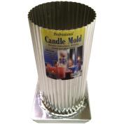 Yaley Professional Metal Candle Mould, Mini Scallop Round, 7.6cm x 15cm - 1.3cm