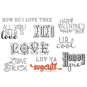 Unmounted Red Rubber Stamps 18cm x 14cm -All You Need Is Love