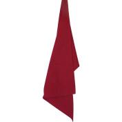 Solid Cranberry Plain Weave Towel 48cm x 70cm -