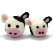 Dimensions Needlecrafts Round and Woolly Cows Needle Felting Kit