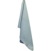 White Plain Weave Striped Towel-Green