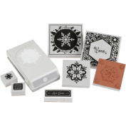Punch Pairings Large Punch & Coordinating Stamps-Winter Snowflake
