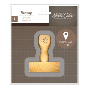Atlantic Wood Handle Mounted Stamp-Here We Are