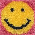 Wonderart Latch Hook Kit 20cm x 20cm -Smile