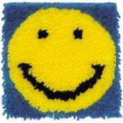 Wonderart Latch Hook Kit 20cm x 20cm -Smiling Face