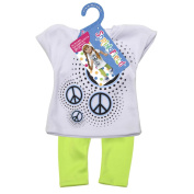 Springfield Collection Hooded Shirt with Leggings, Peace Sign Shirt and Lime Leggings