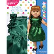 Springfield Collection Ruffled Dress, Hunter Green