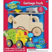 Works Of Ahhh... Wood Paint Kit-Garbage Truck