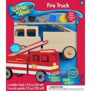 Works Of Ahhh... Wood Paint Kit-Fire Truck