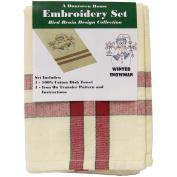 Dumroven Kitchen Stitches Embroidery Tea Towel Set 50cm x 70cm