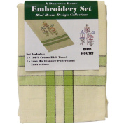 Dunroven Kitchen Stitches Embroidery Tea Towel Set 50cm x 70cm