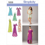 Simplicity 1659 Jessica McClintock Misses' Special Occasion Dress Sewing Pattern, Size R5