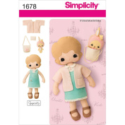Simplicity Crafts 33cm Doll, Clothes and Accessories