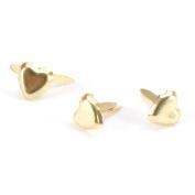 Mini Metal Paper Fasteners 100/Pkg-Gold Hearts 100/Pkg