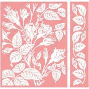 Cuttlebug A2 Embossing Folder/Border Set-Mayfair Floral By Anna Griffin