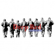 Deep Red Cling Stamp 10cm x 3.8cm -Band Of Soldiers