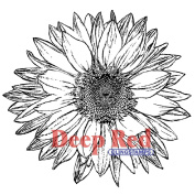 Deep Red Cling Stamp 8.3cm x 8.3cm -Large Sunflower