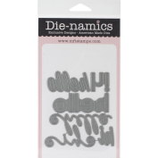 Die-Namics Dies-Happy Hellos, .20cm To 8.4cm